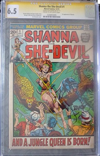 Shanna The She-Devil #1 SS CGC with Sig by Cover Artist