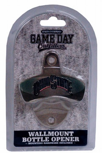 (NCAA Ohio State Buckeyes Bottle Opener Metal Retro Wall Mount, Small, Metallic with Team)