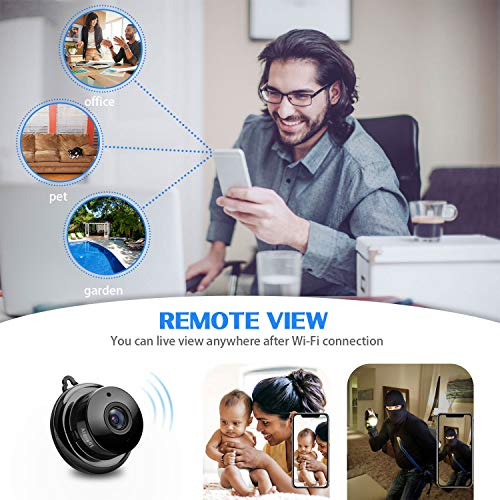 Atdnedy Mini Wireless Micro Camera,HD 960p Nanny Cam,Small WiFi Security Camera with Two-Way Audio,Night Vision and Motion Detection for Home Office.