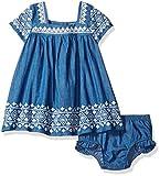Jessica Simpson Baby Girls' Embroidered Denim Dress, Dark Wash, 12M