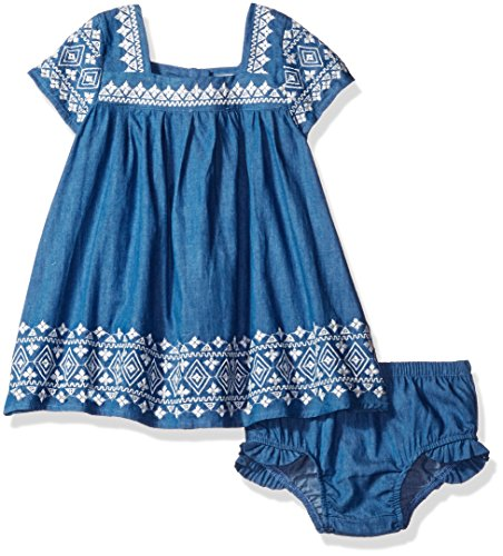 Jessica Simpson Baby Clothes Extraordinary Jessica Simpson Baby Girls' Embroidered Denim Dress Dark Wash 60M