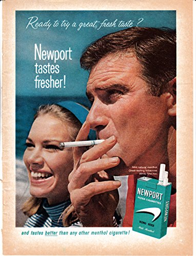 1965 Newport Menthol Cigarettes Tobacco-Great Fresh Taste - Original Magazine (Newport Menthol)