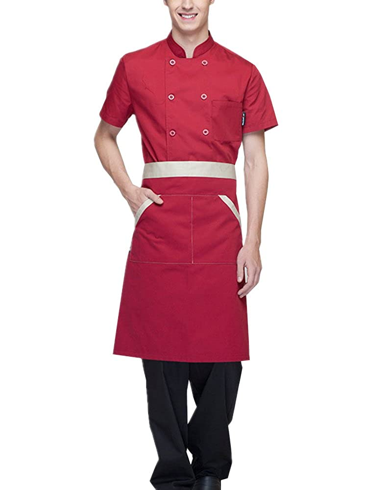 Boupiun Summer Short Sleeve Chef Coat Fashion Cool Unisex Chef Jackets