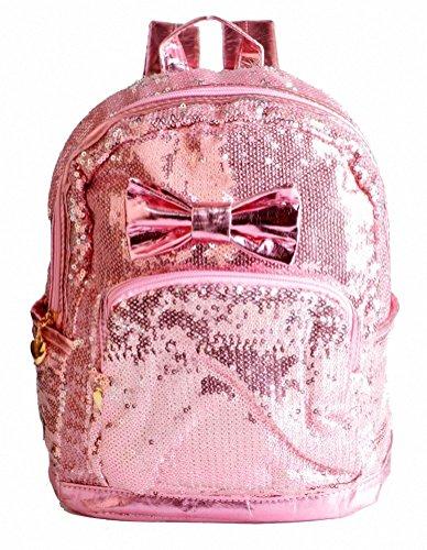 Kenox Girl's Glitter Sequin Studded Rivet Mini Casual Purse Bag