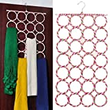 Circles Scarf Holder Organizers Multifunctional hanger holder with 9/12/16/28 Circles (28 Holes)