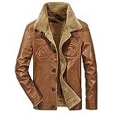 Clearance Sale! Caopixx Jackets for Men's Front-Zip Hooded Jackets Turtleneck Fleece Hoodie Coat