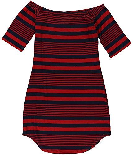 Navy Heart Bodycon Striped Dress Derek Womens qCUgPwgxa