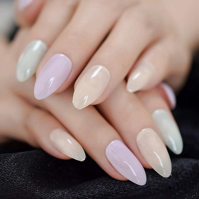 EchiQ - Uñas postizas para manicura (punta mediana, acrílico ...