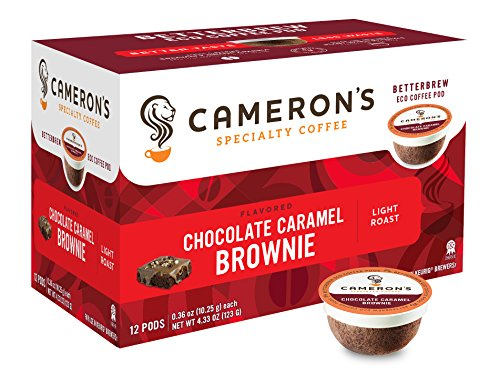 Cameron's Coffee Single Serve Pods, Flavored, Chocolate Caramel Brownie, 12 Count