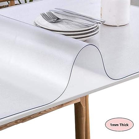 LISIANG Mantel Transparente PVC Mesa Rectangular, Impermeable ...