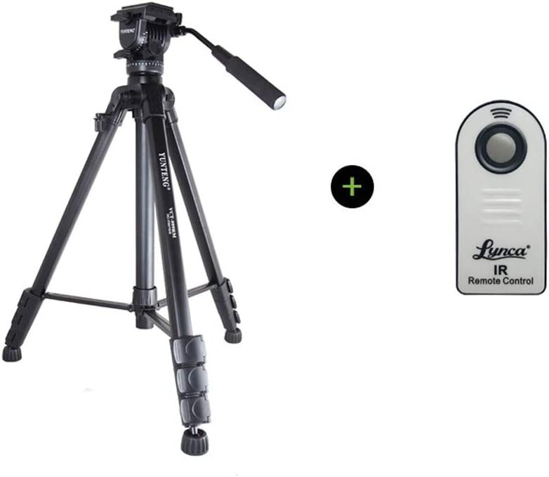 Hydraulic Damping Portable Stand Black Color : D, Size : 999 XMP Tripod with Handgrip for Compact System Cameras