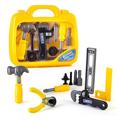 My First Tool Set in Sturdy Carry Case | Toolbox for Pretend Play | Safe Tool...