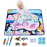 Pynsseu Water Drawing Mat Doodle Mat Educational Toys-Multiple Color Painting, Coloring for Kids- Aqua Magic Mat-Toddler Gifts for Boys Girls, Age of 2,3,4,5,6 Year Old 32