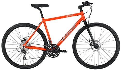 Windsor Rapide Disc Shimano Claris 24 Speed Disc Brake Carbon Fork Super Hybrid Bicycle Bike (Orange, 18in) For Sale