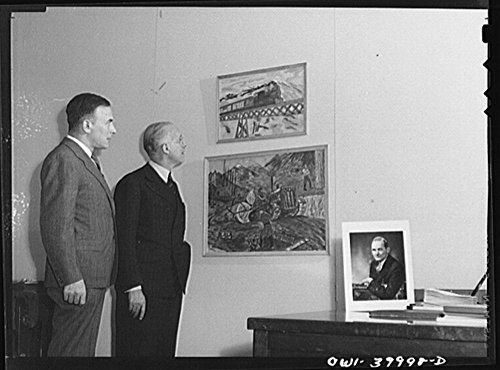 1943 Photo Washington, D.C. Ferdinand Kuhn of the United States Office of War Information and George Alexander Armstrong of the United States Consulate at Manchester, England Location: Washington D.C. (Restaurant Stock Manchester)