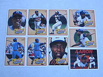 Amazoncom 1991 Upper Deck Baseball Heroes Hank Aaron 9 Card Set
