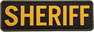 Sheriff PVC Patch Morale with Hook Fastener by uuKen Tactical Gear
