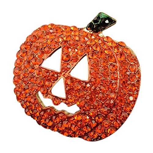 daffodilblob Sparkly Gorgeous Christmas Brooch - Hollow Rhinestone Pumpkin Brooch Pin Christmas Halloween Jacket Handbag Decor for Wedding Christmas Party Lover Women Gift Present Pumpkin for $<!--$1.99-->