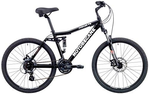 90332d8195c Motobecane 2018 Jubilee FS Full Shimano 24 Speed Dual Suspension Comfort  Bike with Disc Brakes (Black, 16in/42cm fits Most 5'3