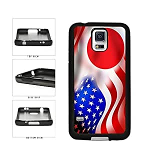 Japan and USA Mixed Flag TPU RUBBER SILICONE Phone Case Back Cover Samsung Galaxy S5 I9600 by icecream design