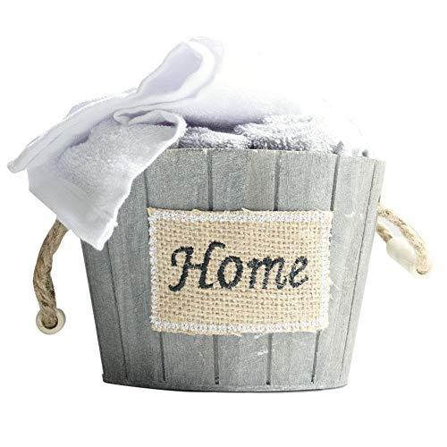 Brielle Washcloth Wooden Basket Container