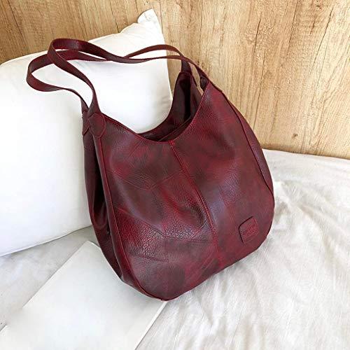 Simple Multi Fashion Red Multifunzione Satchel Soft Pu Hand Layers Simplemujeres Handbag Leather Big Zarupeng Zwv5O