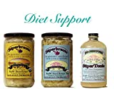 Diet support combo-pack: raw fermented sauerkraut, organic, probiotic, kosher and unpasteurized No shipping charges with this combo pack.