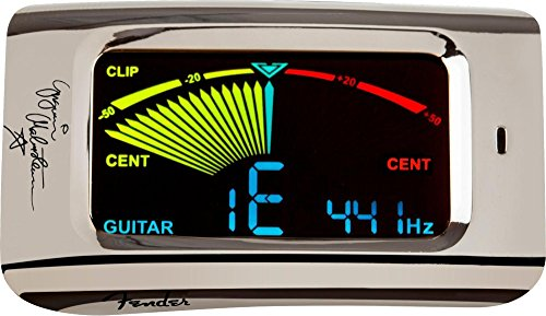 Fender Yngwie Malmsteen Signature Series FCT15C Clip-On Tuner for Electric Guitar, Acoustic Guitar, Bass Guitar, Mandolin, Banjo, and Violin