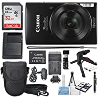 Canon PowerShot ELPH 190 IS Digital Camera (Black) with...