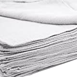 MIMAATEX Huck Towels -50 Piece Pack -16''x 24''- NEW 100% Cotton Super Absorbent-Lint Free (White)