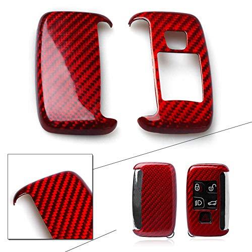 GZYF Carbon Fiber Remote Key Cover Case Fits Land Rover Jaguar Keys, Red by GZYF
