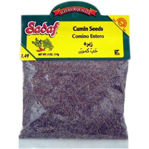 Sadaf Cumin Seeds, 4-ounce (Pack of 6)