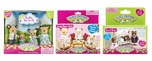 Maven Gifts: Calico Critters Buckley Deer Family with Living Room Suite and Bunk Beds