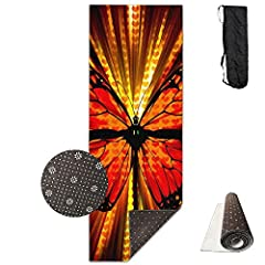Premium Exercise Yoga Mat Comes With An Excellent Slip Resistant Advantage To Prevent Injuries. Exceptional Resilience Allow You To Keep Your Balance During Any Exercise Style. Moisture Resistant Technology Makes The Mat To Be Easily W...