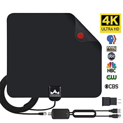 HDTV Antenna Indoor Digital TV Antenna, Dumsamker 50 Miles Range HD Antenna with Detachable Amplifier