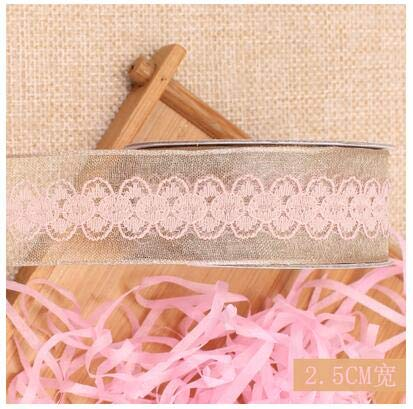 0.125' Satin Ribbon - IronFizz897 Satin Ribbon Yarn 5M/ 15Mm 25Mm 40Mm Wide Lace Fabric Ribbon Flower Satin Bow Yarn Ribbons Crafts Sparkles Wedding Light Cake Package