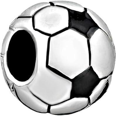 Charmsstory cuentas de colgante con forma de balón de fútbol ...