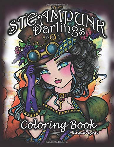 Pdf Crafts Steampunk Darlings Coloring Book