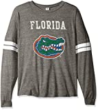 NCAA Florida Gators Betty Long Sleeve Tri-Blend Football Jersey T-Shirt, X-Large, Tri Grey/White