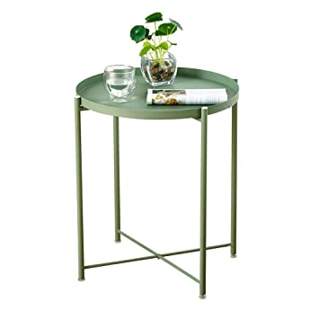 Jizhen Table Dappoint En Fer Forgé Petite Table Basse Plateau Table