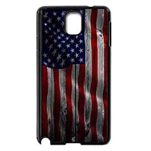 Samsung Galaxy Note 3 Cell Phone Case Black custom Wood US Flag Fjvvt