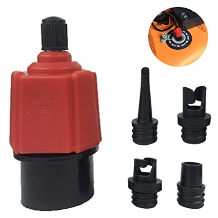 Overmont Inflatable Boat SUP Pump Adaptor Standard Schrader Conventional Air Pump Air Valve Adapter