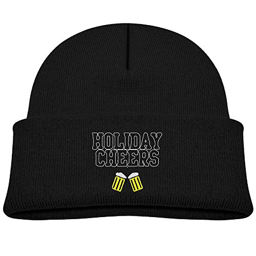 Tolloer Christmas Holiday Cheers Irish Unisex Kids Beanie Caps Black