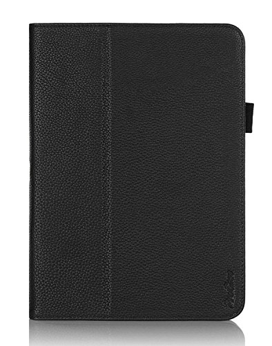 ProCase Samsung Galaxy Tab 4 10.1 Tablet Case with stylus pen - Bi-Fold Stand Cover Case for 10 inch Galaxy Tab 4 (2014 released), with auto Sleep/Wake, also compatible with Galaxy Tab 3 10.1 (Black)