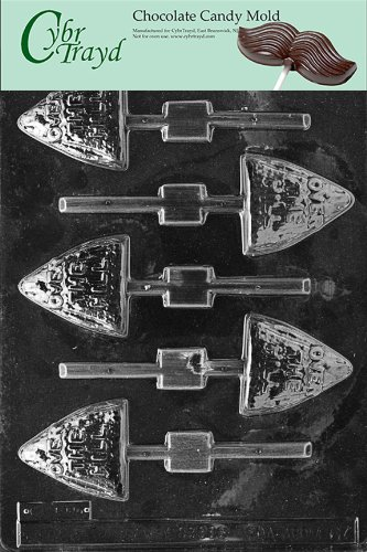 Cybrtrayd M067 Over The Hill Lolly Miscellaneous Chocolate Candy Mold