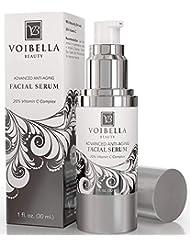 BEST Natural Anti-Aging Facial Serum Vitamin C Complex -  Anti-Wrinkle Face Serum For Women & Men. Ultra Hydrating, Smoothing, Skin Tightening, Firming, Brightening, Pore Min & Anti Blemish Treatment