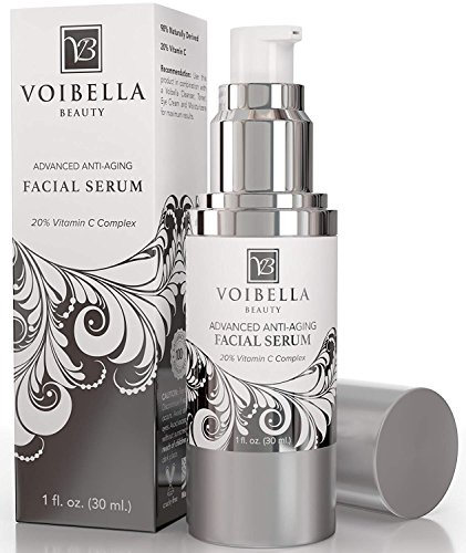 BEST Natural Anti-Aging Facial Serum Vitamin C Complex - Anti-Wrinkle Face Serum For Women & Men. Ultra Hydrating, Smoothing, Skin Tightening, Firming, Brightening, Pore Min & Anti Blemish Treatment