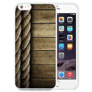 NEW Unique Custom Designed iPhone 6 Plus 5.5 Inch Phone Case With Rope And Wood Lockscreen Clean_White Phone Case wangjiang maoyi