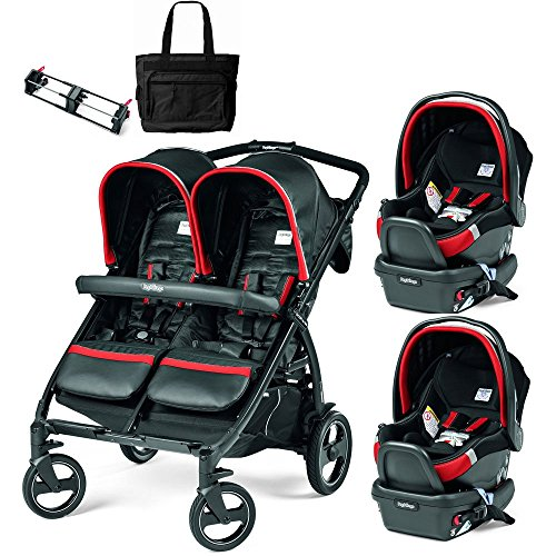 Peg-Perego Book for Two Synergy Black Red Silver Double S...