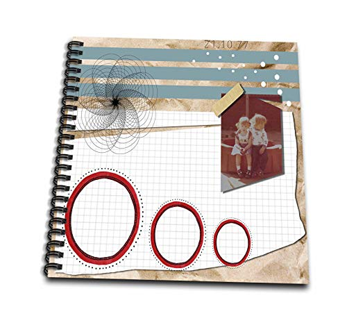 (3dRose Made in The Highlands - Art - Memories of The 70s - Collage of Nostalgia from The 1970s - Memory Book 12 x 12 inch)